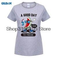 GILDAN Women Fashion Brand T Shirt Women Casual T Shirts Short Sleeve 100 Cotton Watermelon Man
