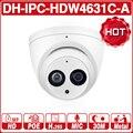 <font><b>DH</b></font> IPC-HDW4631C-A 6MP HD POE, сетевые мини купольные ip-камеры металлический корпус Встроенный микрофон CCTV камера 30 м IR ночного видения Dahua OEM IK10