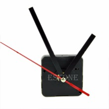 1 Set Silent large wall Clock Quartz Movement Mechanism Black and Red Hands Repair Kit Tool Set With Hook