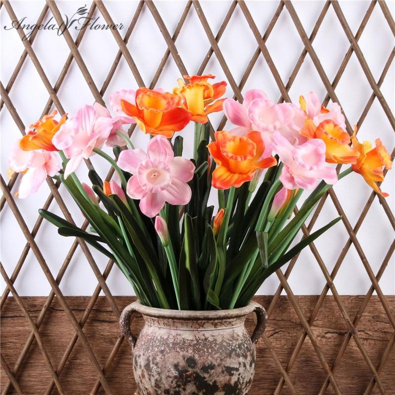 Artificial Flower Daffodil New Hot Sell DIY Home Wedding