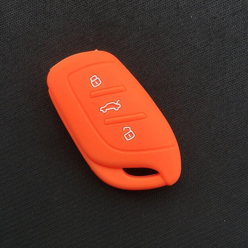 Силиконовый резиновый чехол для автомобильного Брелока Для MG ZS EV HS 3 кнопочный ключ - Название цвета: Оранжевый