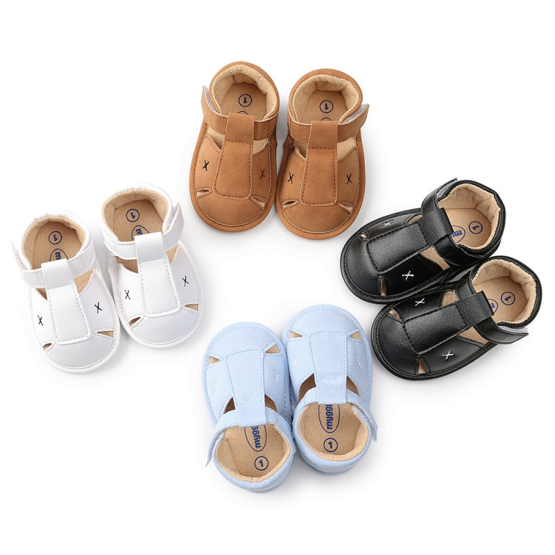 Hot Sale 0-18 Month Baby Boys Girls Soft Leather Baby Summer Prewalker Soft Sole Beach First Walkers