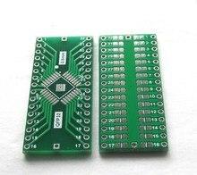 100 PCS QFP32 turn DIP32 Com Aterramento Placa TQFP LQFP EQFP 0.8 MM Passo IC adaptador de Tomada Adaptador de placa PCB