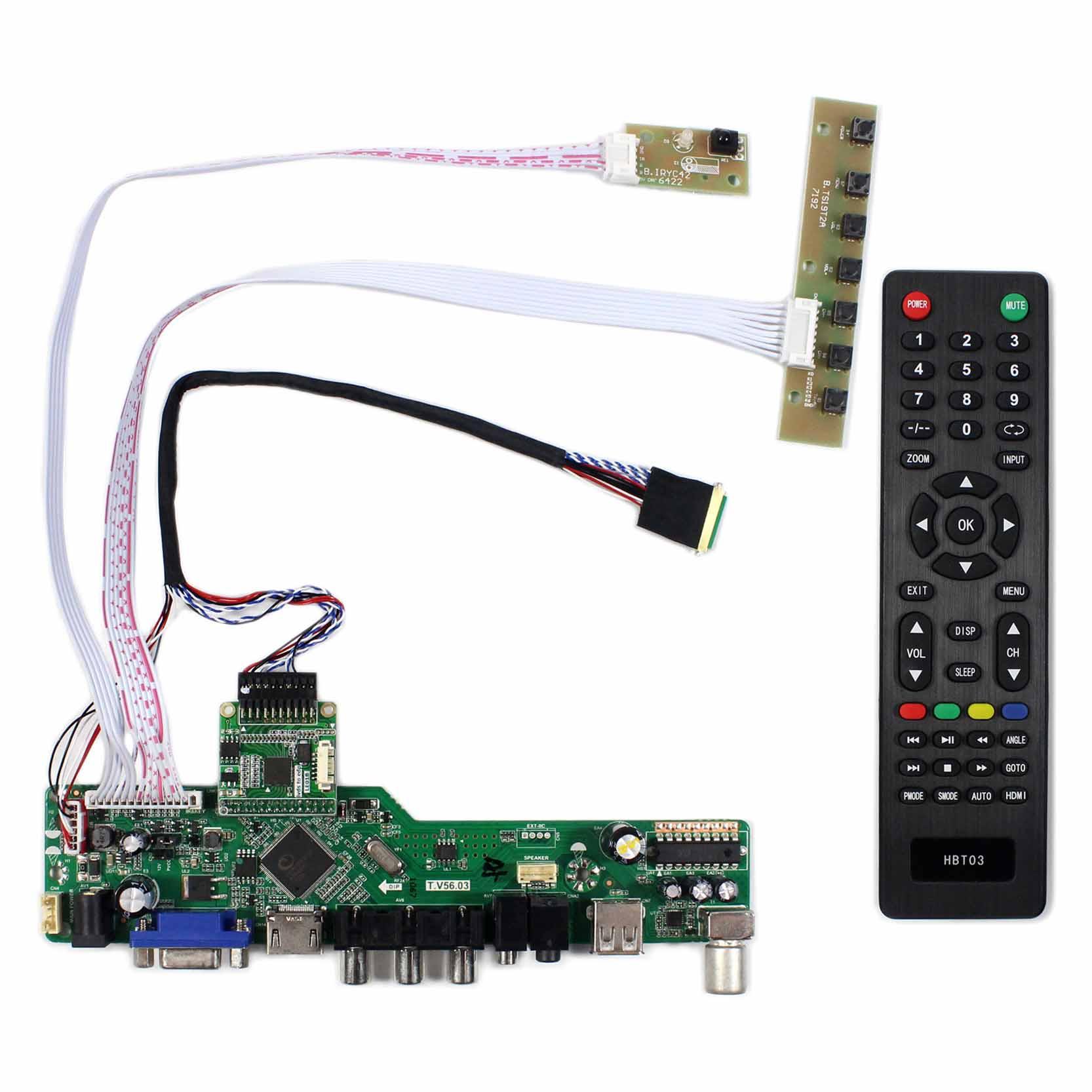 TV+HDMI+VGA+AV+USB+AUDIO LCD Controller Board Work For 11.6inch 1920x1080 N116HSE eDP LCD Screen vga hdmi lcd controller board for lp156whu tpb1 lp156whu tpa1 lp156whu tpbh lp156whu tpd1 15 6 inch edp 30 pins 1 lane 1366x768