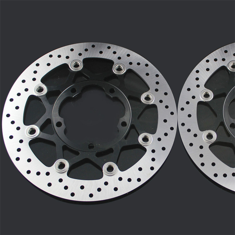 2 PCS Motorcycle Front Floating Brake Disc Rotor For SUZUKI GSXR600 GSXR750 06 07 GSXR1000 05