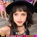 12 inch 30 см Бразильский Зажим для волос волосы женщины toupe реми кружева топ парик волос человека женщина короткий боб парики для чернокожих женщин бесплатно корабль
