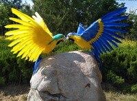 Yapay kuş büyük 45x60 cm güzel tüyler papağan wings yayılma papağan el sanatları prop, ev bahçe dekorasyon hediye p2222