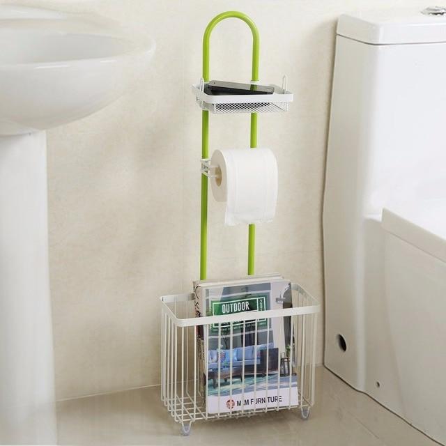 lifewit toilettenpapierrollenhalter caddy mit zeitungsstnder freistehende tissue lagerung bad veranstalter regal - Freistehender Toilettenpapierhalter Mit Lagerung