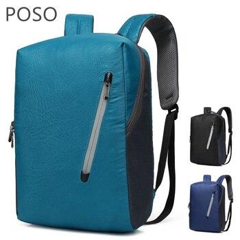 2019 POSO брендовый рюкзак для ноутбука 15