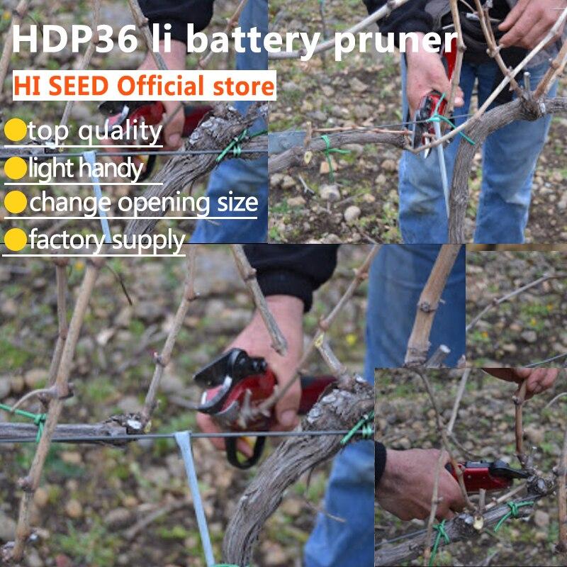 все цены на Electric Pruning Shear HDP36 battery powered vineyard orchard electric scissors, electric pruner онлайн