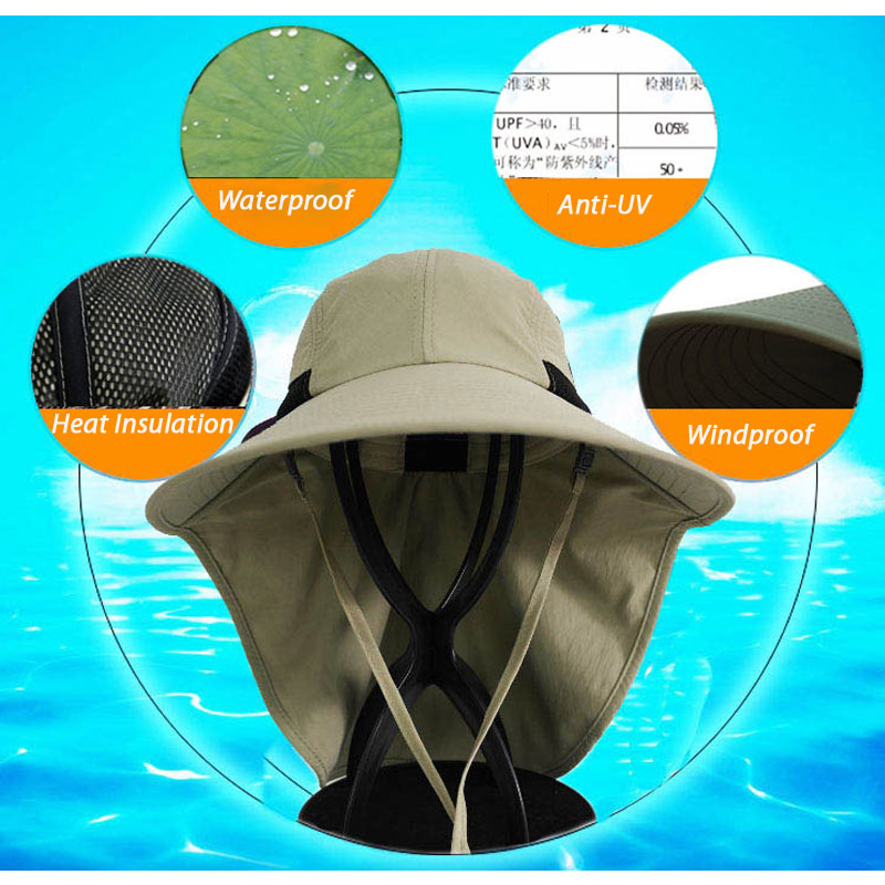 dd3d9ab7ea85bf Fishing Hats for Large Head Men Women Wide Outdoor Activity Sun Protection  UV Blocking Waterproof Head Blocking Breathable Cap-in Fishing Caps from  Sports ...