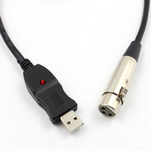 USB Male to 3 Pin XLR Female Microphone MIC Studio Audio Link Cable 3M USB Cable