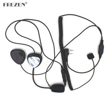 цена на 2 Pin Finger PTT Motorcycle Helmet Radio Headset Microphone For Kenwood 3207 BAOFENG UV5R UV5RA Ham Radio Walkie Talkie