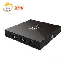 X96 ТВ коробка S905X 1 г 8 г или 2 г 16 г Amlogic 4 ядра Android 6.0 WIFI HDMI 2.0A 4 К * 2 К Коди Зефир медиаплеер телеприставку