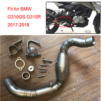MTCLUB for BMW G310GS G310R 2017 2018 G310GS Motorcycle Modified Muffler Exhaust Contact Mid Link Pipe 304 Stainless Steel