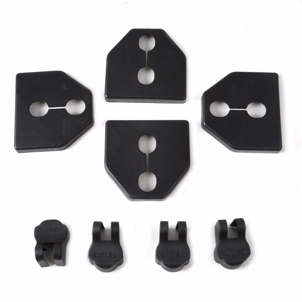 DWCX 4Pcs Car <font><b>Door</b></font> Striker Cover Lock Protector+4pcs <font><b>Door</b></font> Check Arm Cover For <font><b>Subaru</b></font> Forester Legacy <font><b>Outback</b></font> XV 2012 2013 2014 + image