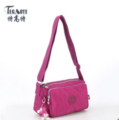 TEGAOTE 2017 New Nylon Waterproof Women Shoulder Bag Handbag Multifunction Zipper Messenger Bag Crossbody  bag 937