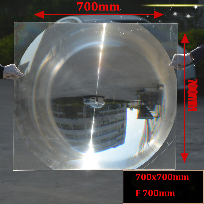 1PC 700x700mm Big Optical PMMA Plastic Solar Fresnel Condensing Lens Focal Length Large Magnifier,Barbecue Solar Concentrator 1pc 300mm dia large optical pmma plastic big solar fresnel lens focal length 120 360mm solar concentrator large magnifying glass