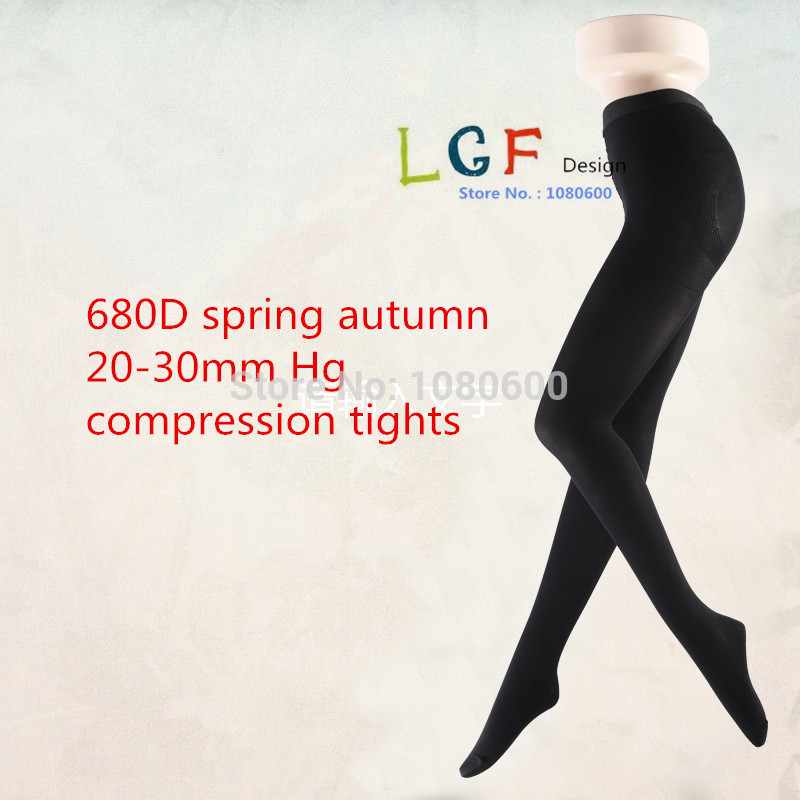 2018 LGFT102 Opaque thin women gradient Pantyhose Therapeutic 20-30 mmHg Firm Support Gradient Compression tights ...