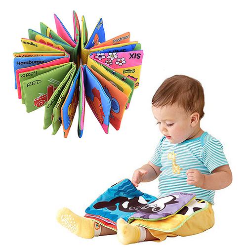 Infant Baby Children Kids Intelligence Development Cloth Book Cognize Book Toys 7KJC
