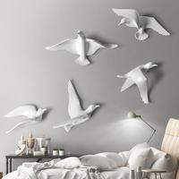 1 аппликации птица настенные изображения стена наклейки Seabirds Творческий Бар Кулон Морской Декор Чайка наклейки аксессуары A30