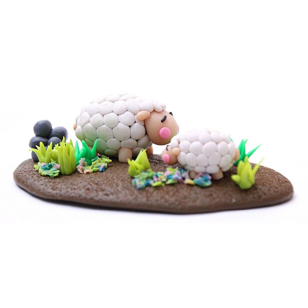 24 couleurs polymère argile bricolage doux modélisation argile ensemble avec 5 pièces outils boîte-cadeau pour enfant non toxique Slime jouets malléable - 6