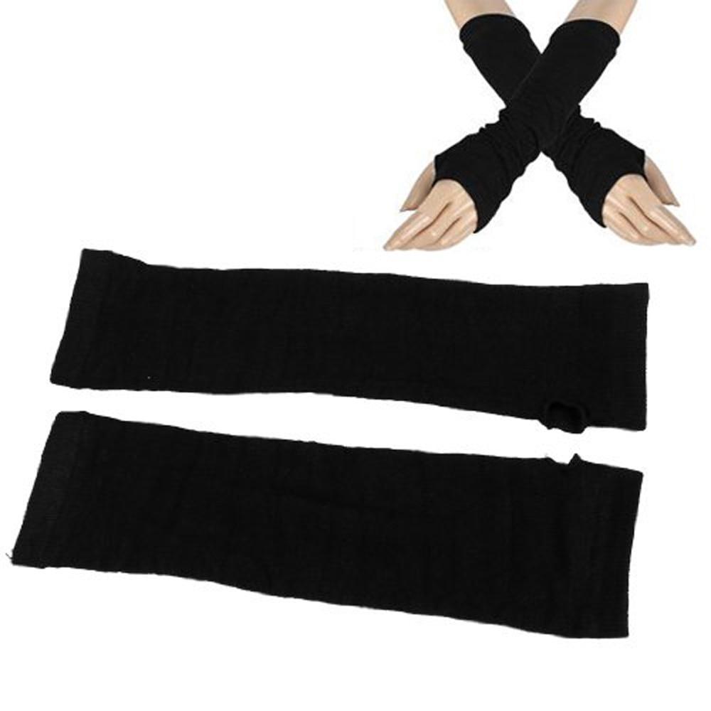 Armstulpen Realistisch Heißer Damen Winter Stretchy Manschette Fingerlose Schwarze Gestrickte Lange Handschuhe Arm Wärmer Paar Kann Wiederholt Umgeformt Werden.
