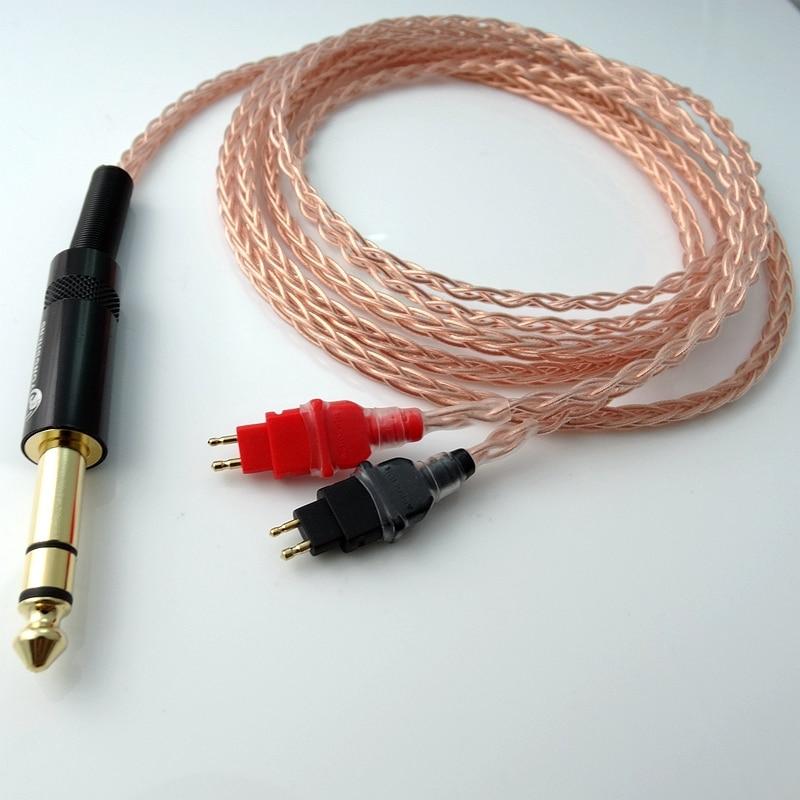 2.5м 1/4 6.35 мм DIY Hi-end 8 ядер 5n Pcocc мідний - Портативні аудіо та відео - фото 3