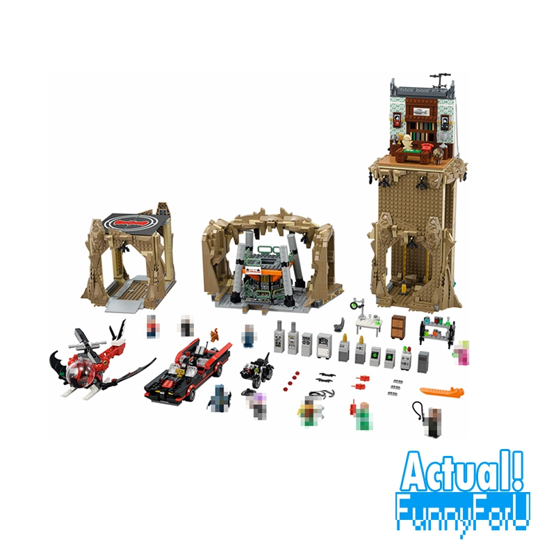 Classic Lepin 07053 2566PCS DC Batman Super Heroes Batcave Educational Building Blocks Bricks Toys Model Gift Compatible 76052 2566pcs genuine batman super heroes moc batcave lepins educational building blocks bricks toys gift for children figures gifts