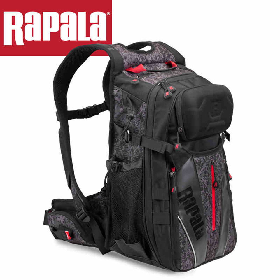 RAPALA Fishing Bag 25L Bag & Detachable Belt Fishing Backpack 40cm*32cm*20cm Fishing Tackle Bag Multifunctional outdoor backpack