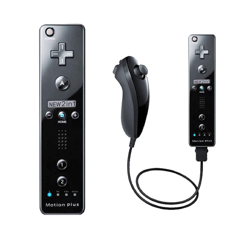 Movimiento integrado más remoto inalámbrico Gamepad controlador para Nintend Wii Nunchuck para Nintend Wii Remote Control Joystick Joypad