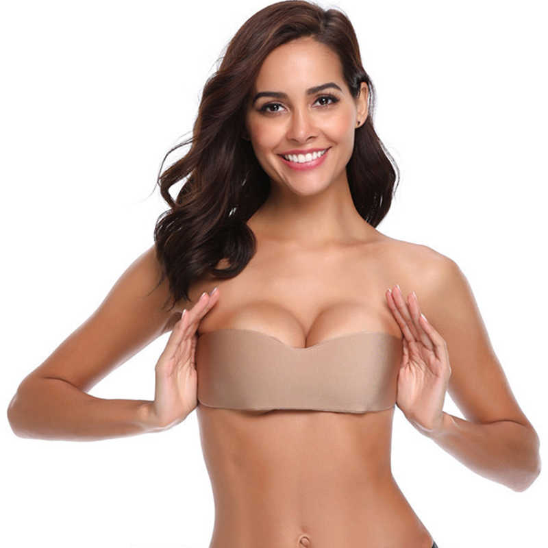 Women's Beige Push Up Breast Tapes Strapless Bra Breast Lift Pasties