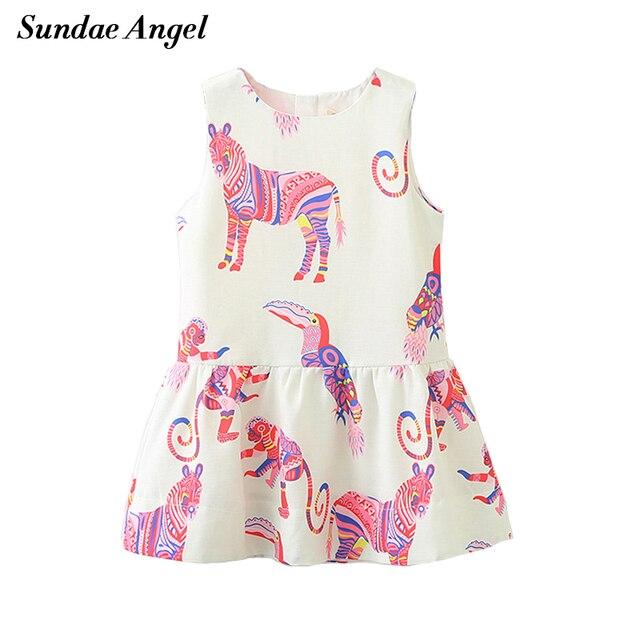 3415df85bf5d Sundea Angel Girl Print Dress Brand Sleeveless O neck Printing Horse ...