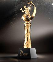 Высокое качество! Бадминтон кристалл трофей творческий металл Кубок каучук сувенир спортивный конкурс приз, Бесплатная доставка!