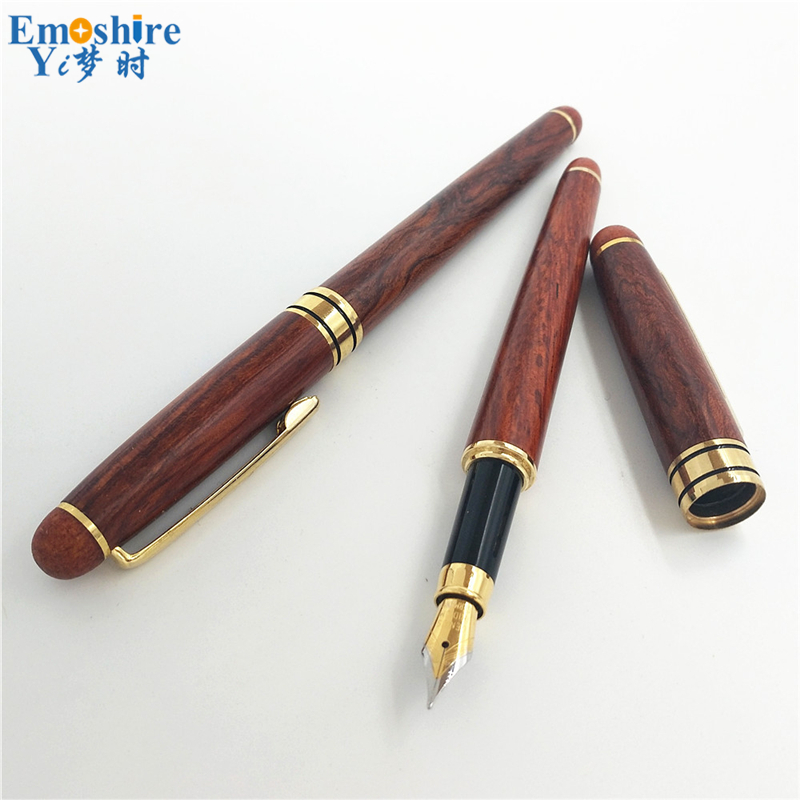 School Office Writing Supplies Stationery Wooden Fountain Pen Wood Fountain Pens for Writing Classic Gifts Teachers' Day P106