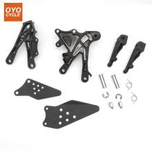 Front Driver Rider Foot Pegs For Kawasaki Ninja ZX10R 2006 2007 2008 2009 2010 Bracket Footrests Footpegs ZX-10R Rests