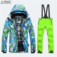 2018 Для мужчин и Куртки зимние теплые костюмы ветровка снег Костюмы mountain Лыжный Спорт сноуборд куртка и брюки High Experience