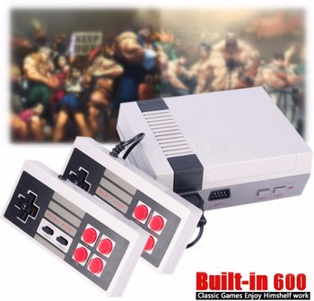 30 Retro Mini TV Handheld Game Console Video Game Console For Nes Games With 2 Controllers Built-in 600 Classic Games PAL&NTSC