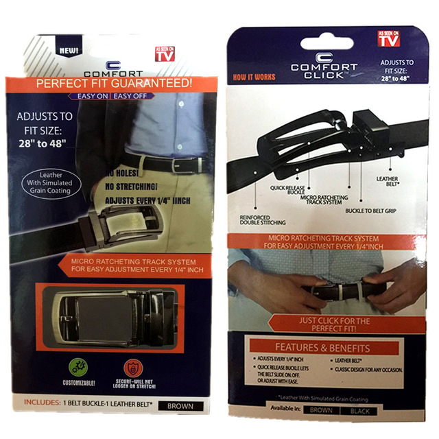 Comfort Click  Leather Belt Strap