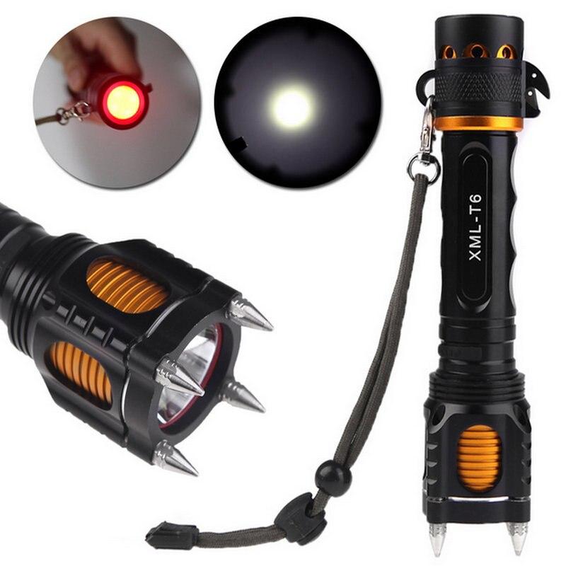 2000lm LED FlashLight T6 Flash Light Lamp 5 Mode Powerful Lantern Tactical Lanterna Emergency Self Defense Lamp Torch for Campig