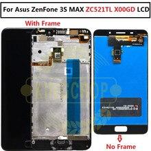 สำหรับASUS Zenfone 3S Max ZC521TL LCD Touch Screen Digitizerเปลี่ยนสำหรับASUS ZC521TL LCD X00GDจอแสดงผลกรอบ