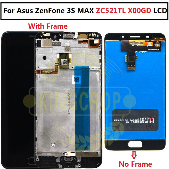 For ASUS Zenfone 3S Max ZC521TL LCD Touch Screen Digitizer Replacement for ASUS ZC521TL LCD X00GD Display with frame