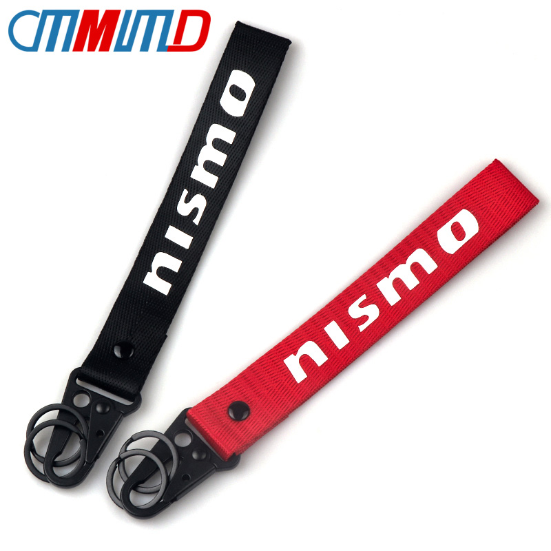 Car Ribbon Key Chain Key Ring For Nissan Nismo Almera Tiida X Trail Note Juke Teana <font><b>350Z</b></font> 370Z GTR <font><b>KeyChain</b></font> accessories Styling image