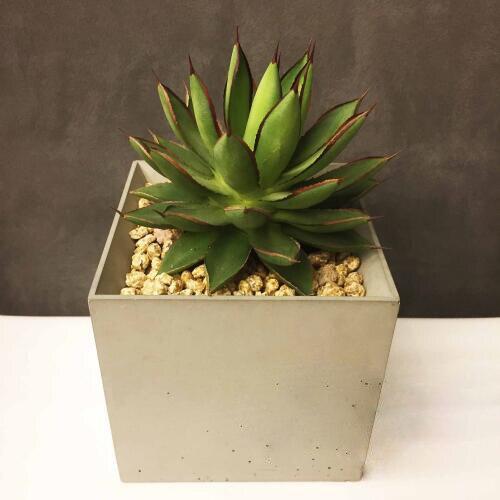 Moule de gel de silice de pot de fleur de décoration de vent contracté ciment géométrique porte-stylo de ciment régulier pots carrés moules de silicone