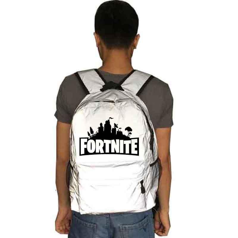 Fortnite backpack Reflective school bag Notebook backpack Leisure Daily backpack