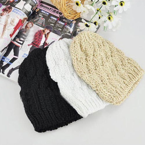 Hot Sale  Women's Winter Crochet Wool Braided Baggy Beanie Cap Hat Retail/Wholesale  4VRF rwby letter hot sale wool beanie female winter hat men