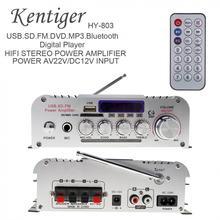 HY-803 2CH Hi-Fi Bluetooth автомобильного аудио Мощность усилитель FM радио Поддержка SD/USB/DVD/MP3 Вход для дома Автомобиль Мотоцикл