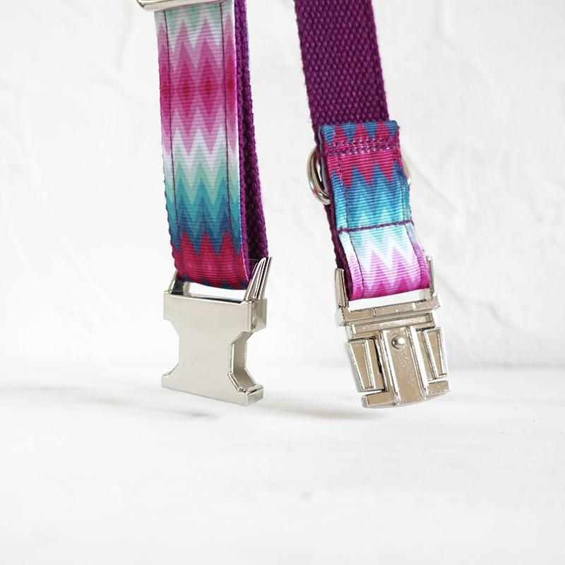 MUTTCO ritel desain khusus diri anjing kerah PURPLE PEACOCK stripe 5 - Produk hewan peliharaan - Foto 4