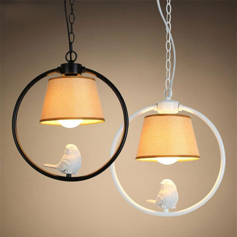 все цены на America country single head bird pendant lamp E27 Pastoral style retro lamps restaurant corridor dining room pub cafe chandelier онлайн