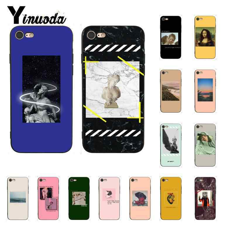 Yinuoda Great art aesthetic van Gogh Mona Lisa painting David TPU Phone Case for iPhone8 7 6 6S Plus X XSMAX 5 5S SE XR 10 Cases